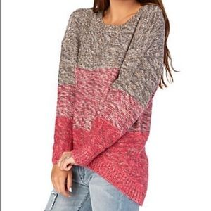Rue 21 hi-low pink sweater